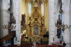 CRACOVIA, POLONIA - 27 MAGGIO 2016: Altare principale della chiesa cattolica romana della st Catherine di Alessandria d'Egitto e  Immagini Stock