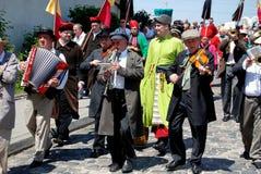 Cracovia, Polonia: Processione di Lajkonik Fotografia Stock Libera da Diritti