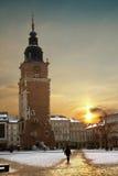 Cracovia - torretta del municipio - la Polonia Fotografie Stock Libere da Diritti