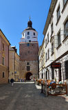Cracovian gate in old town of Lublin. City in Poland. Stock Images