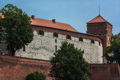 Cracovie, château de Wawel Photos stock