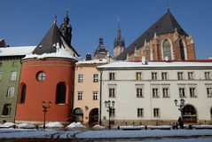 Cracovie dans l'hiver Photos libres de droits