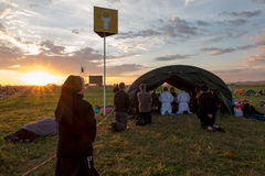 CRACOVIE, la POLOGNE - 31 juillet 2016, le jour de la jeunesse du monde et le catholique Image libre de droits