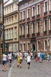 Cracovie, la rue de Kanoniczna Photographie stock