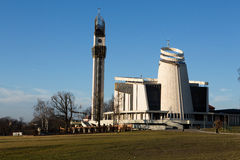 Cracovie, Lagiewniki - le sanctuaire divin de pitié images libres de droits