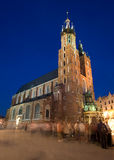 Cracovie par nuit Image libre de droits