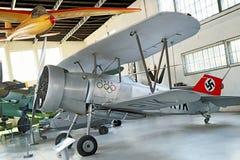 Cracovie, Pologne - 30 août 2015 : Musée d'aviation Avion d'exposition Image stock