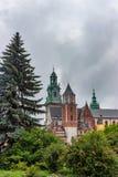 CRACOVIE, POLOGNE - JUIN 2012 : Vue sur le château de Wawel Photos stock