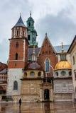 CRACOVIE, POLOGNE - JUIN 2012 : Vue sur le château de Wawel Photographie stock libre de droits