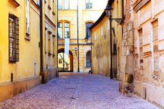 Cracow. Old backstreet in Old Town in Cracow Stock Images