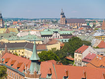 Cracow Aerial. An aerial view of the old town of Cracow, Poland Royalty Free Stock Photography
