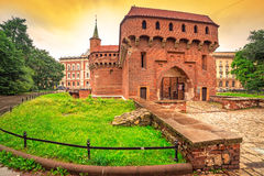 Cracow barbican - medieval fortifcation at city walls Stock Photo