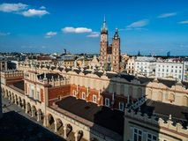 Cracow centre. Old town in the centre of Cracow (Poland Stock Photo