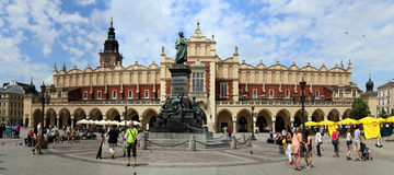 Cracow city. On the central plaza Royalty Free Stock Image