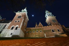 Cracow city night view Royalty Free Stock Photos
