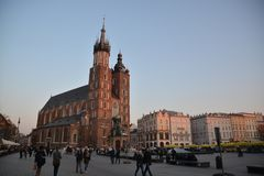 Cracow city street view Royalty Free Stock Photos