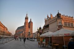 Cracow city street view Stock Photo