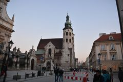 Cracow city street view Royalty Free Stock Images