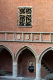 Cracow. The courtyard of the collegium Maius of the Jagiellonski university in Krakow in Poland Royalty Free Stock Photography