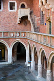Cracow. The courtyard of the collegium Maius of the Jagiellonski university in Krakow in Poland Royalty Free Stock Image