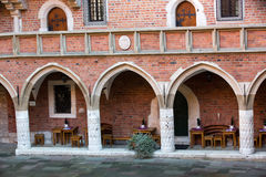 Cracow. The courtyard of the collegium Maius of the Jagiellonski university in Krakow in Poland Stock Images