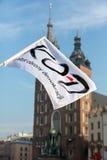 Cracow - a demonstração contra a fiscalização no Internet Foto de Stock