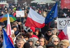 Cracow - a demonstração contra a fiscalização no Internet Fotografia de Stock Royalty Free