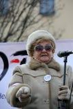 Cracow - a demonstração contra a fiscalização no Internet Fotografia de Stock