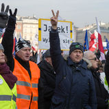 Cracow - the Demonstration against the surveillance on Internet Stock Photography