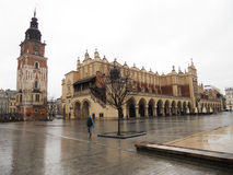 Cracow fabric rain Royalty Free Stock Photo