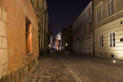 Cracow, Kanonicza Street by night stock images