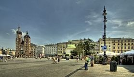 Cracow (Krakow) in Poland Royalty Free Stock Photography