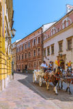 Cracow (Krakow)-Poland- horse carriage tour Stock Image