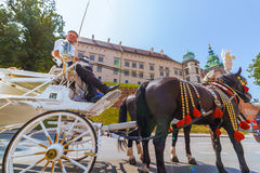 Cracow (Krakow)-Poland- horse carriage tour to Wawel Castle Stock Photos