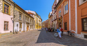 Cracow (Krakow)-Poland- most scenic street Stock Photo