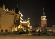 Cracow by night Stock Photo