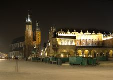 Cracow by night Stock Photography