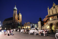 Cracow by night Royalty Free Stock Image