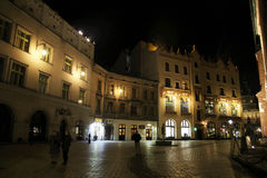 In cracow by night Stock Images