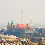 Cracow panorama Royalty Free Stock Photo