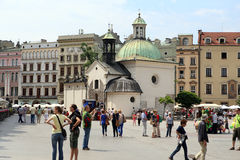 Cracow, Poland. The church on the central plaza Royalty Free Stock Image