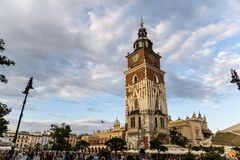 Cracow in Poland,city square historical architecture.Tourist spot stock photos
