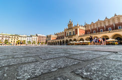 Cracow, Poland- Cloth Hall (Sukiennice)-Main Market Square Royalty Free Stock Photo