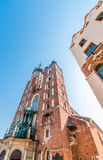 Cracow, Poland- gothic Saint Mary s church and secession house Stock Images