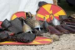 Cracow, Poland. Knight camp during the traditional Medieval festival Royalty Free Stock Images