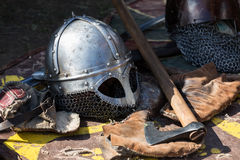 Cracow, Poland. Knight camp during the traditional Medieval festival Stock Photography