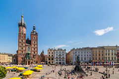Cracow-Poland-Main Market Square Royalty Free Stock Photos