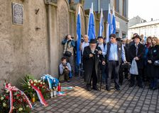 Anniversary of the Krakow Ghetto Liquidation - Remembrance March. Cracow. Cracow, Poland - March 11, 2018: The 75th Anniversary of the Krakow Ghetto Liquidation Royalty Free Stock Photography