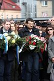 Anniversary of the Krakow Ghetto Liquidation - Remembrance March. Cracow. Cracow, Poland - March 11, 2018: The 75th Anniversary of the Krakow Ghetto Liquidation Stock Images