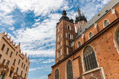 Cracow-Poland-Mariacki Church. Cracow (Krakow)-Poland-Mariacki Church (Saint Mary Basilica)- gothic brick architecture Royalty Free Stock Photos